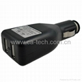 Dual USB Car Charger For iPhone iPad  5V 2.1A
