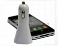 Dual USB 5V 3.1A  Car Charger For iPhone4 5 iPad  3