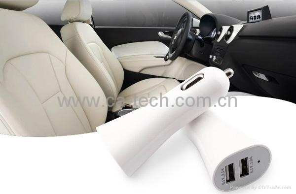 Dual USB 5V 3.1A  Car Charger For iPhone4 5 iPad  4