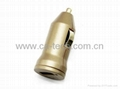 Gold Mini USB Car Charger  For iPhone 5s