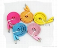 11MM Colorful Noodle  Micro USB3.0 Cable  For Samsung