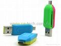 USB2.0 OTG Card Reader  For TF SD Micro SD  2