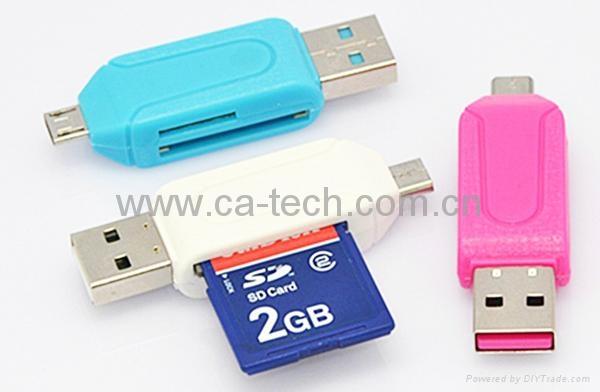 USB2.0 OTG Card Reader  For TF SD Micro SD  5