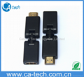 HDMI Female on Male / adapter can be rotated 360 degrees