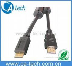 高清晰度电视多媒体连接线 迷你HDMI 连接线抗