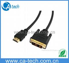 HDM轉 DVI 插頭鍍金高清晰多媒體數據線