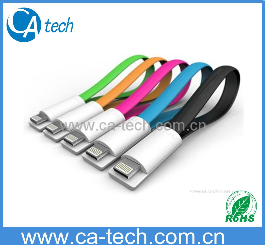 苹果5 5C 5S磁环数据线 彩色面条磁铁数据线 1