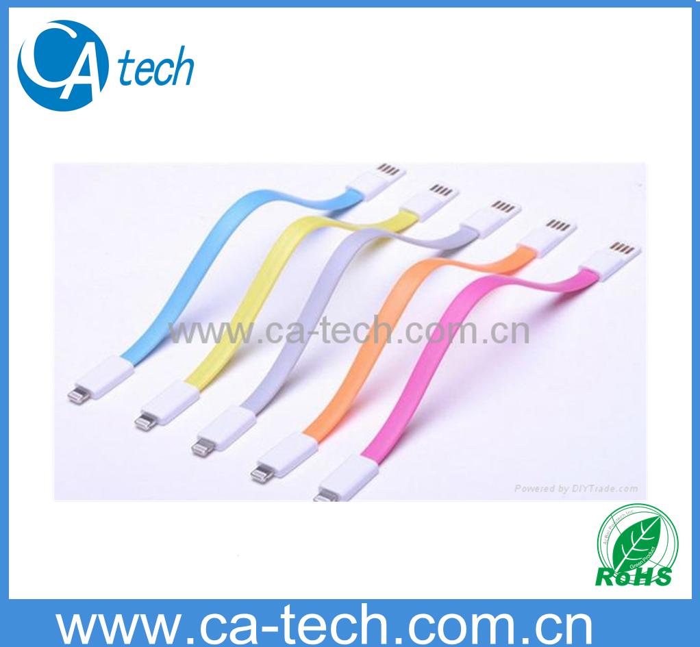 苹果5 5C 5S磁环数据线 彩色面条磁铁数据线 2
