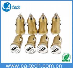 Gold Mini USB Car Charge