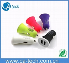 NEW Colorful Dual USB Car Charger For iPhone iPad Samsung HTC