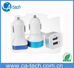 iPhone iPad Samsung Dual USB Car Charger 5V 2.1A