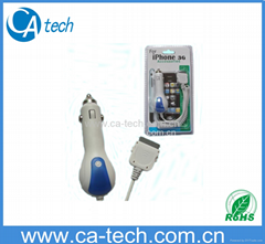 iPhone 4s 30Pin Car Charger   5V 1000MA