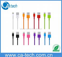 彩色蘋果線USB 數據線 蘋果數據線8/X/7/6PLUS/