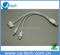 iPhone 4S 5 USB cable 3 in 1,Micro 5P