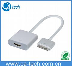 HDMI TO IPOD苹果转接头 苹果连接线