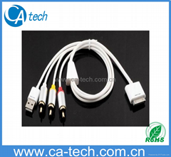 AV Cable for all iPod and iPhone3G/3GS/4G/iPad2 (New)