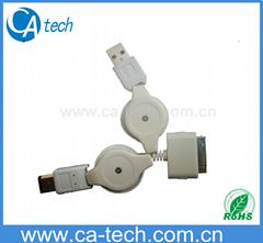 USB AM+IEEE1394 TO IPOD伸縮線