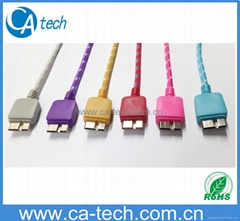 USB 3.0 Cable With  Braided Nylon