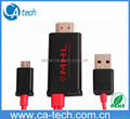 2M HDMI  MHL Cable With Micro USB For
