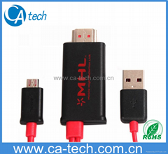 2M HDMI  MHL Cable With Micro USB For SANSUNG HTC LG