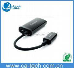 MHL转HDMI适配器 MHLTO HDMI线 Micro USB MHL高清视频线