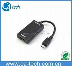 MHL Converter to HDMI cable Samsung Galaxy S4/S3/S2 Micro 5pin to HDMI Adapter