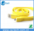 USB Colorfull Noodle Micro 5Pin Cable