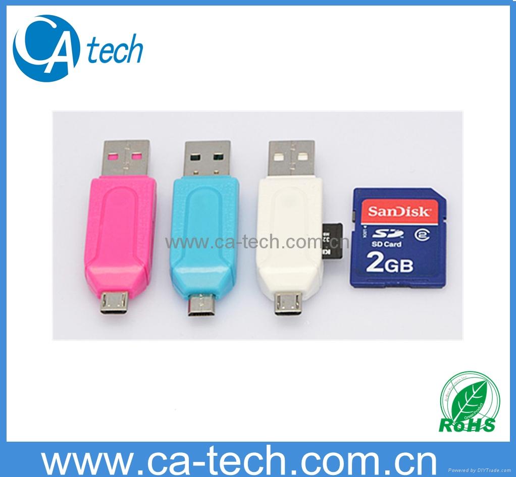 USB2.0 OTG Card Reader  For TF SD Micro SD  1