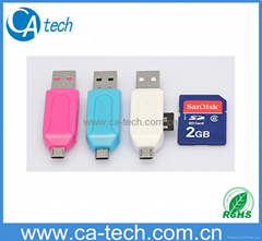 USB2.0 OTG Card Reader  For TF SD Micro SD