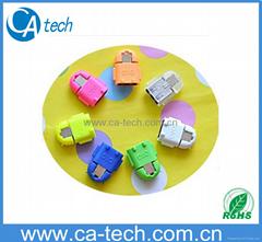 三星小米安卓机通用.Micro USB OTG转接头 U盘转接头OTG彩色