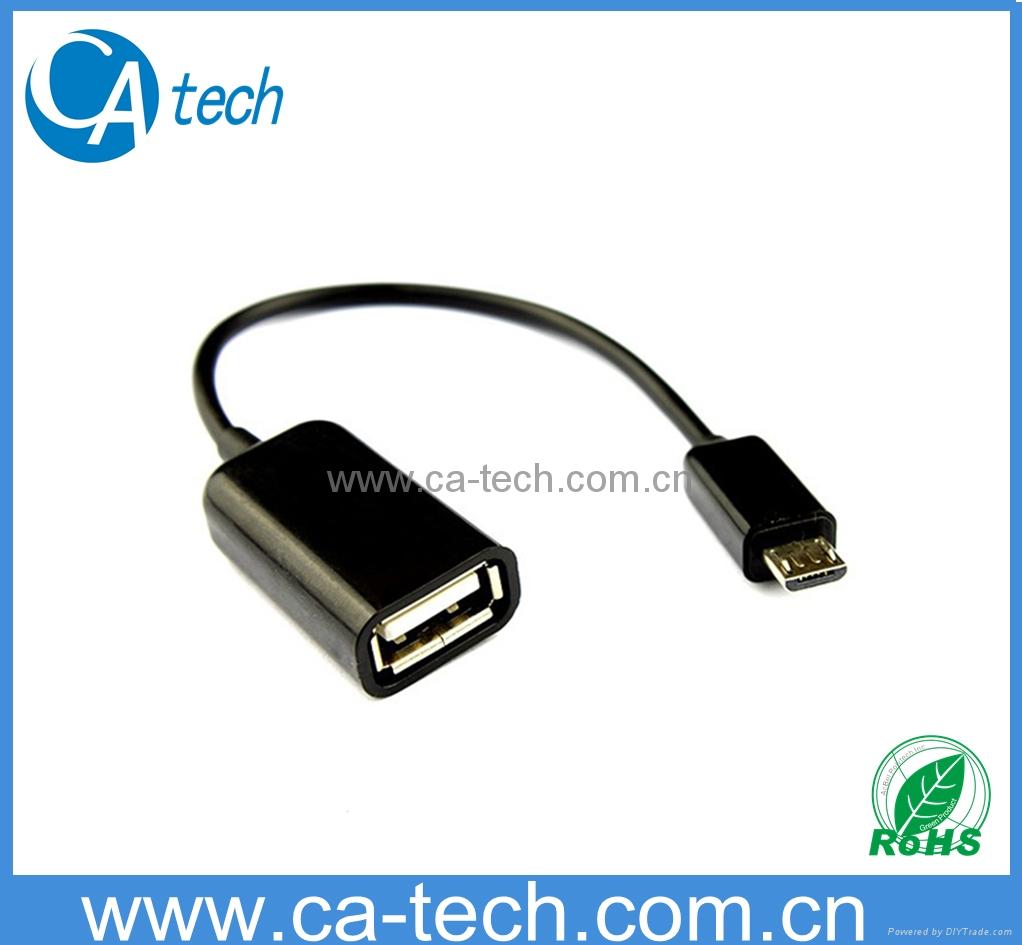 手机OTG数据线 鼠标 键盘 U盘AF To Micro OTG数据线 1