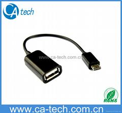 手机OTG数据线 鼠标 键盘 U盘AF To Micro OTG数据线