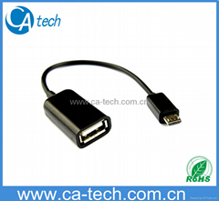 手機OTG數據線 鼠標 鍵盤 U盤AF To Micro OTG數據線