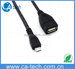 Micro USB OTG Data Cable Samsung Galaxy S4 i9500 S3 i9300 S2 i9100
