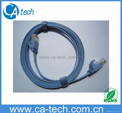 UTP CAT6 Patch Cord CAT6 Flat Ethernet Cable 2M with UL certification