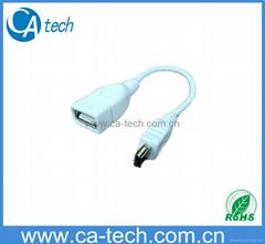 USB A 母 轉MINI5PIN 公 OTG 數據線