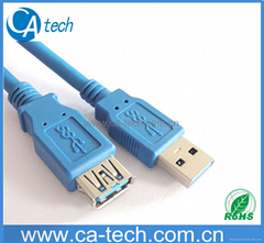 USB3.0延长线 USB3.0数据线USB3.0 AM 对USB3.0AF延长连接线