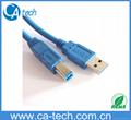 USB 3.0打印机数据线A对B  USB高速传输线公对公方口硬盘盒连接线 1