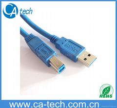 USB 3.0打印機數據線A對B  USB高速傳輸線公對公方口硬盤盒連接線