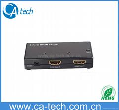 Mini 2 IN 1 HDMI switcher V1.3B,Mini 2 to 1 HDM Switcher