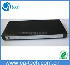 1 TO 8 HDMI SPLITTER V1.3B, 1 in 8 out HDMI SPLITTER V1.3B
