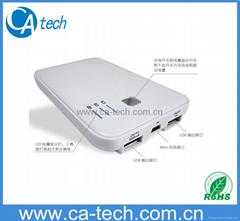 双USBIPAD移动电源 手机移动电源 12000mAh