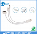 Multi Function 3 in 1 usb cable for iphone 5 5S 5C /IPAD/Samsung Micro