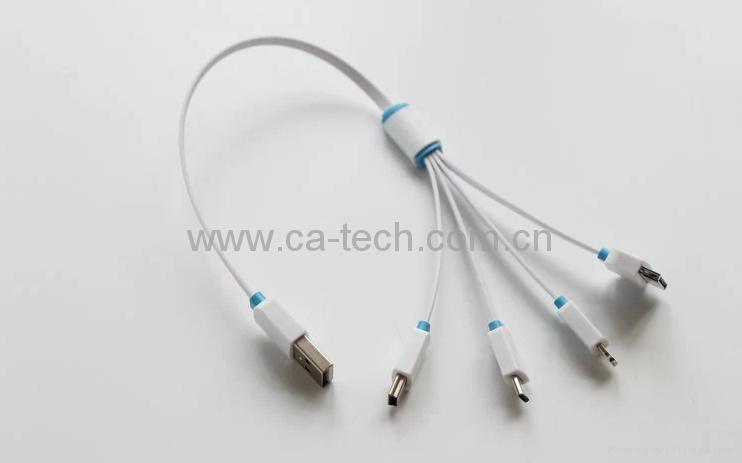 一拖四i5锁扣数据线 高品质一拖四充电线 3