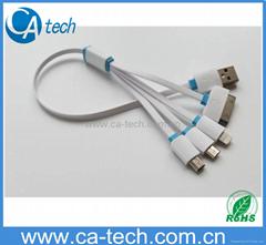 一拖四i5锁扣数据线 高品质一拖四充电线