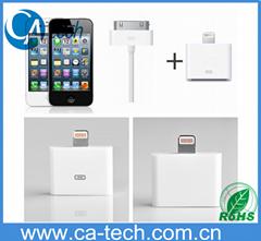 蘋果iPhone5轉iphone4s數據線 轉換器30pin轉8pin針 4轉5轉換接頭