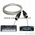 standard MIDI Extension cable Male to