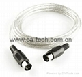 standard MIDI Extension cable Male to Male 5pin keyboard Adapter Converter