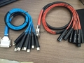 Hot sale! DB25 TO 3PIN XLR CABLE/MICROPHONE CABLE /Breakout cable 8 channel