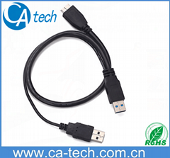 1.0M USB3.0 Y cable  USB3.0AM  to Micro